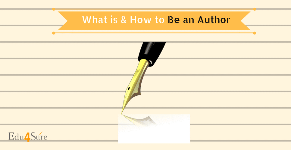 Choose a Career as Author