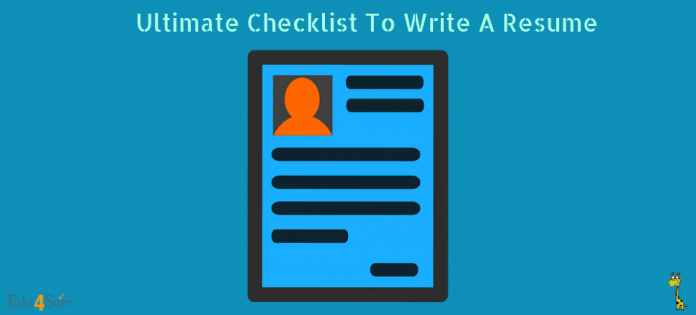 Checklist-Write-Resume