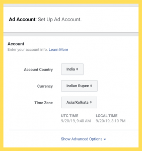 Ad-Account-MainPage