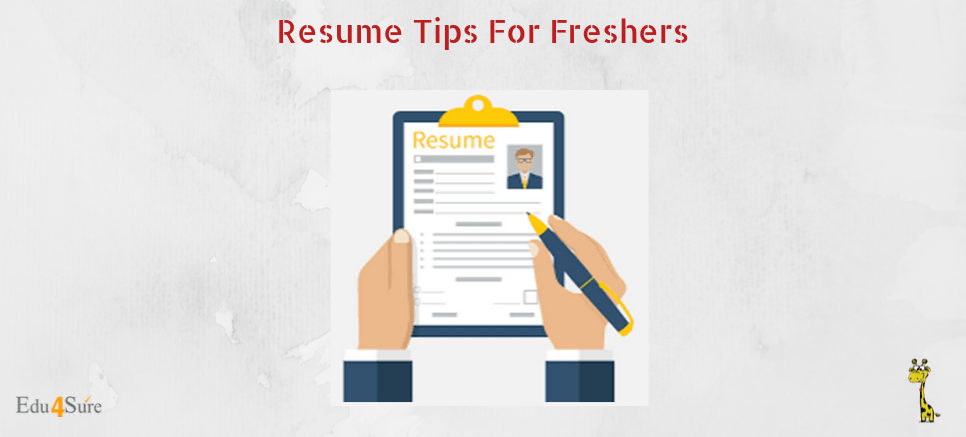 Resume Tips For Freshers