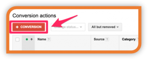 Conversion-action-google-adwords